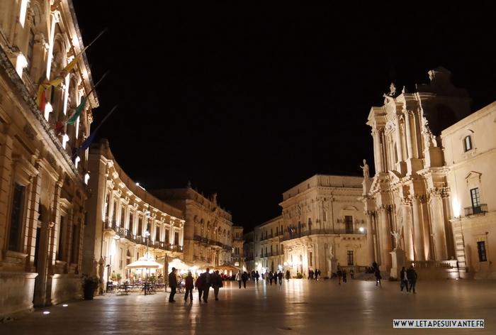 Mes coups de coeur en Sicile, la quartier Ortigia, à Syrcause, de nuit