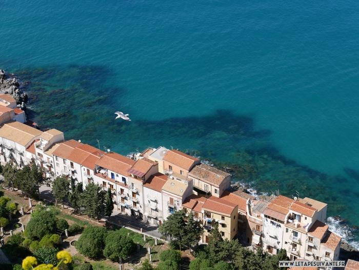 Vue depuis la citadelle de Cefalu, un de mes paysages coups de cœur en Sicile