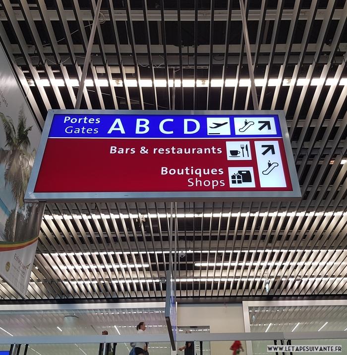 prendre l'avion pour la première fois, s'orienter dans l'aéroport avec les panneaux