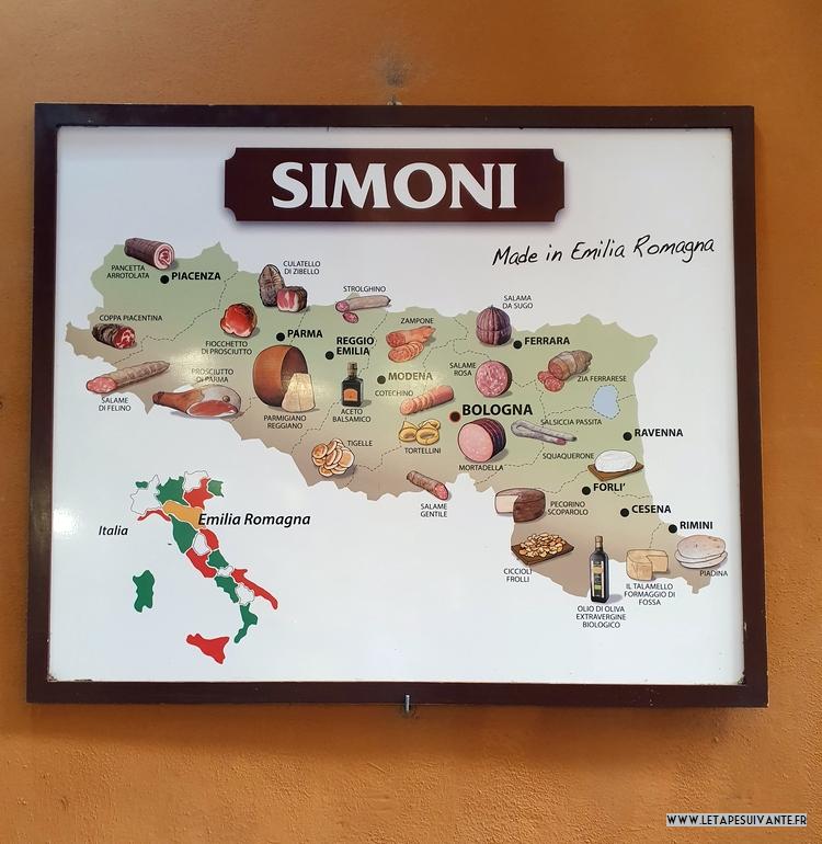 La gastronomie dans la région de Bologne