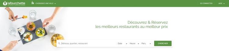 Test de La Fourchette : page d'accueil du site