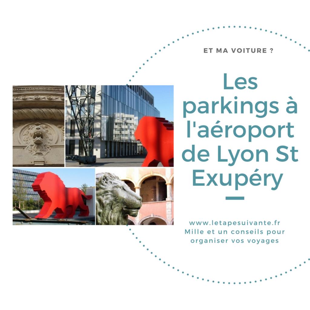 Les parkings à l'aéroport de Lyon St Exupéry