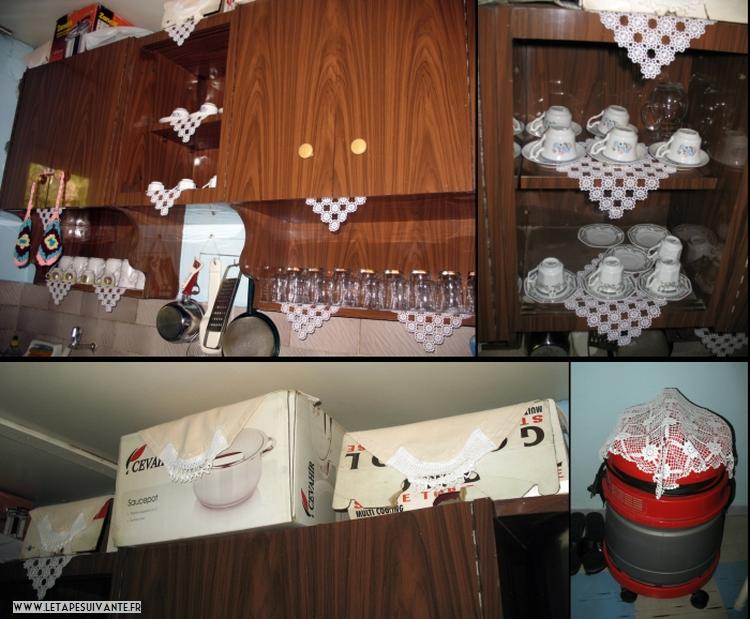 Logement en Turquie chez une famille possédée des napperons ! Typique à souhait !