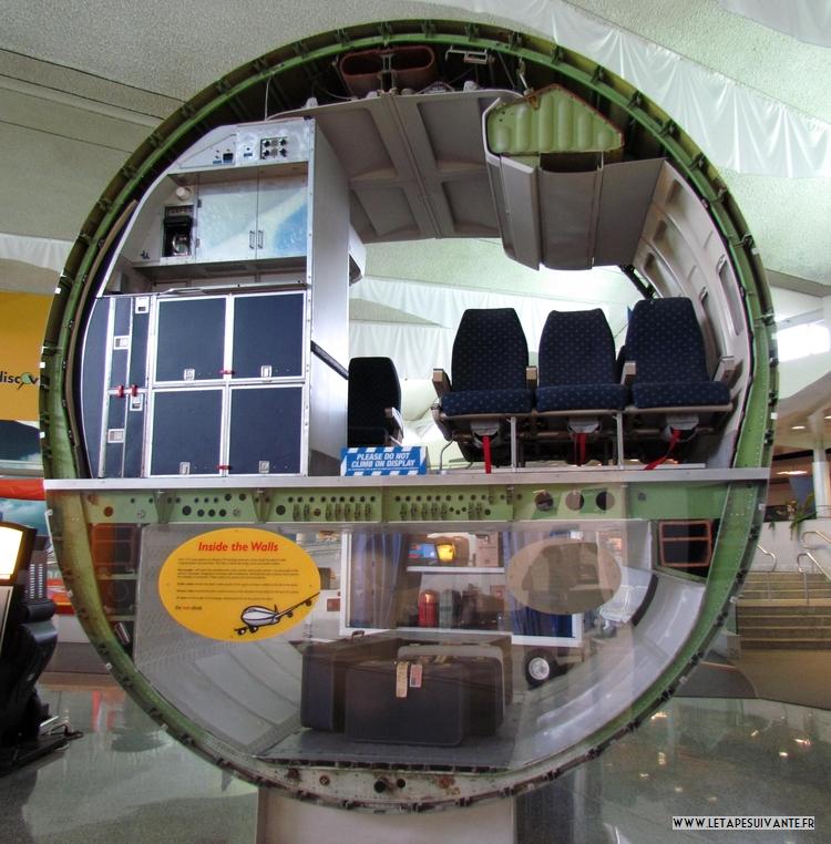 Savoir comment fonctionne un avion :  coupe d'un avion Boeing 727.